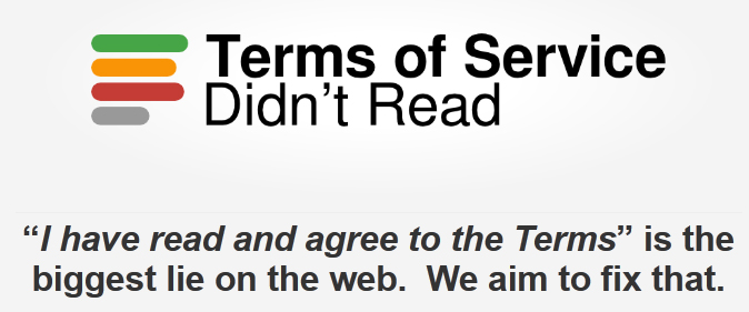 Terms of service didn't read